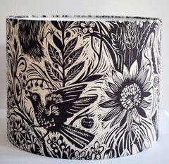 Squirrel and Sunflower Lampshade