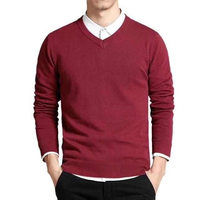 CASUAL V-NECK PULLOVER (7 colors)