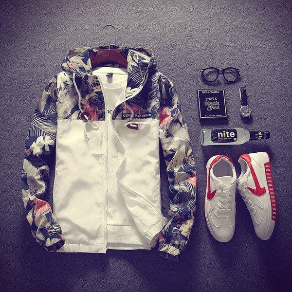 FLORAL WINDBREAKER JACKET (5 colors)