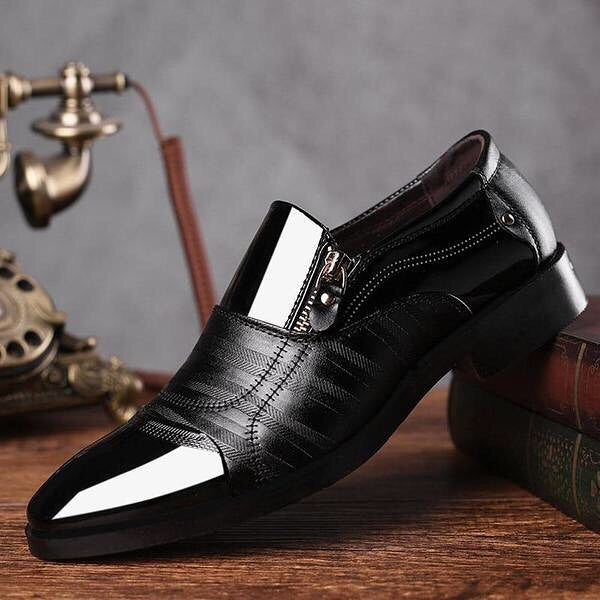 LEATHER CLASSIC DRESS SHOES (4 COLORS)