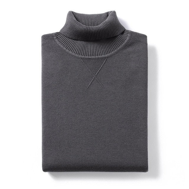 KNITTED TURTLENECK SWEATER (6 colors)