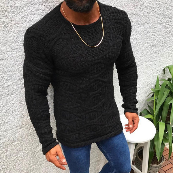 KNITTED LONG SLIM FIT SWEATER (3 colors)
