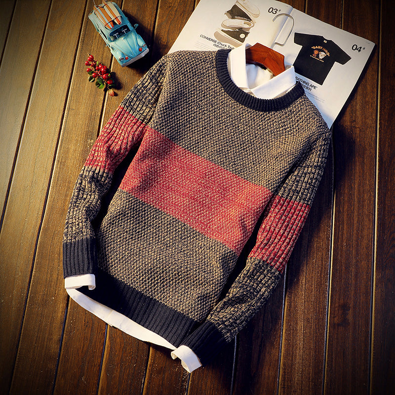 CASUAL STRIPED SWEATER (3 Colors)