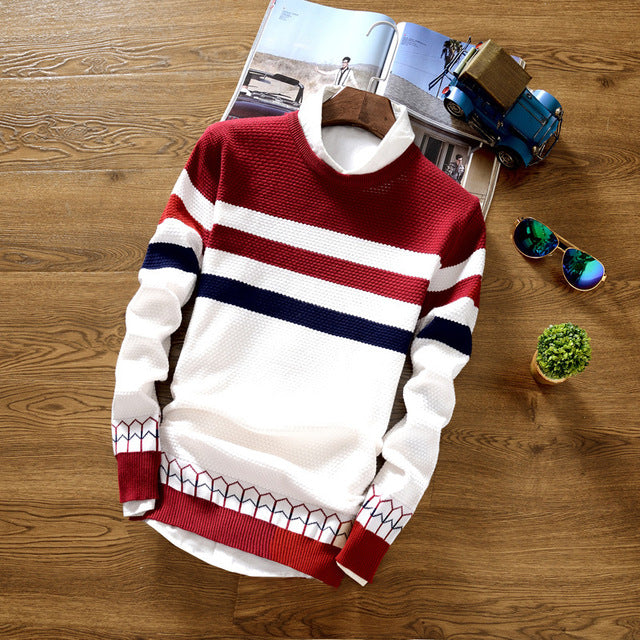 THIN STRIPED SWEATER (3 colors)