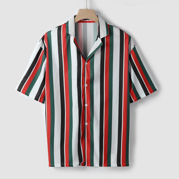 SUMMER STRIPED SHORT SLEEVE SHIRT (2 colors)