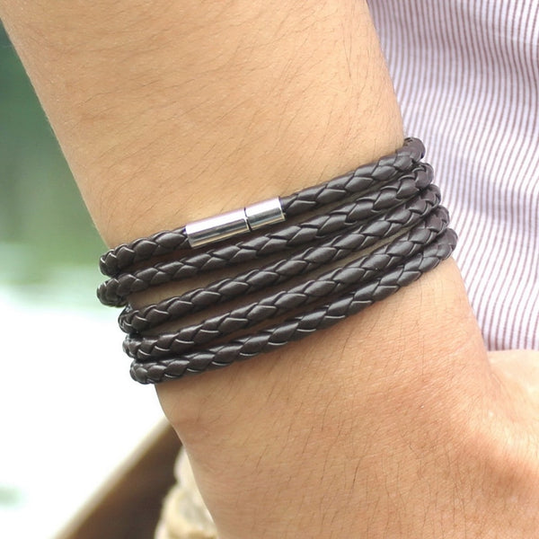 LONG LEATHER BRACELET (10 colors)