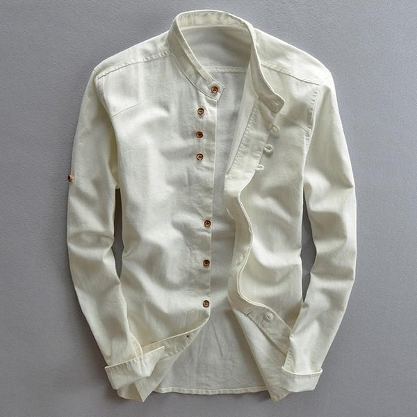 CASUAL SLIM LINEN SHIRT (2 colors)
