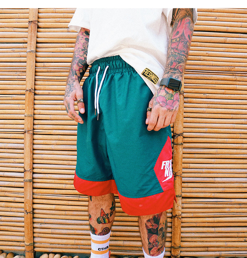 """SIDE PATCHWORK"" SHORTS (2 colors)"