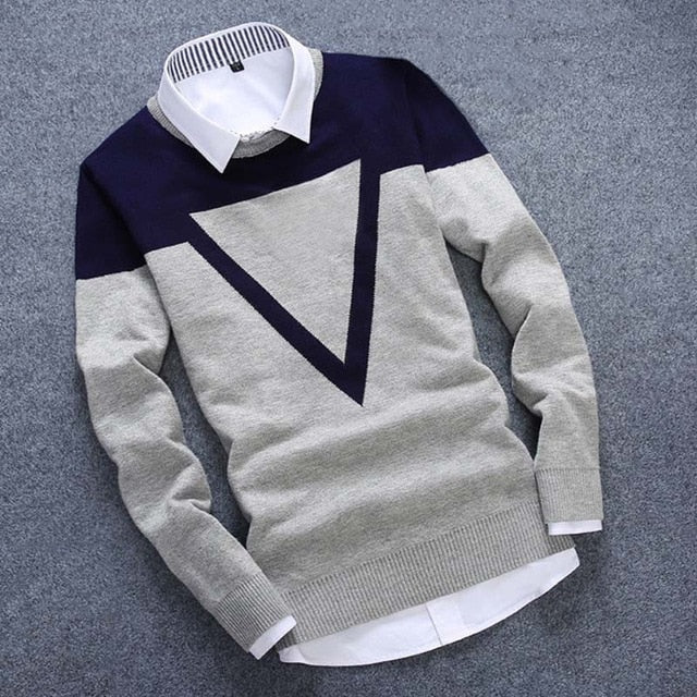 TRIANGLE KNITTED SWEATER (3 colors)