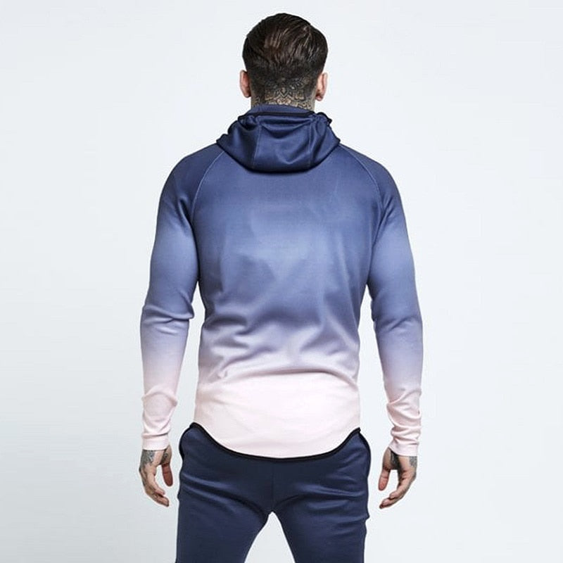 GRADIENT HOODED SWEATSHIRT (4 colors)