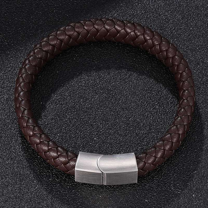 BRAIDED LEATHER BRACELET (4 colors)