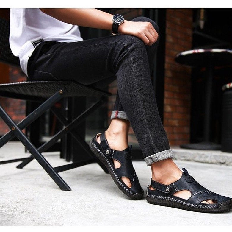 GENUINE LEATHER SANDALS (4 colors)