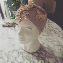 Load image into Gallery viewer, Golden Butterfly haute Turban
