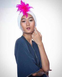 Feathers Dream Pink haute Turban