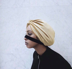 Golden Velvet Turban