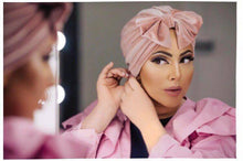 Load image into Gallery viewer, Pink Velvet Turban