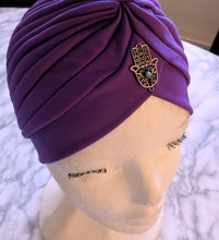 Load image into Gallery viewer, Blue Pearl Turban