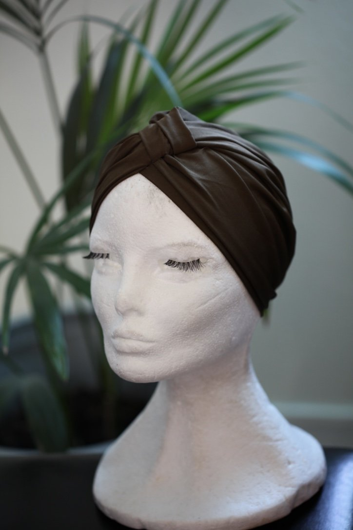 Green Evening turban 2 Models in 1