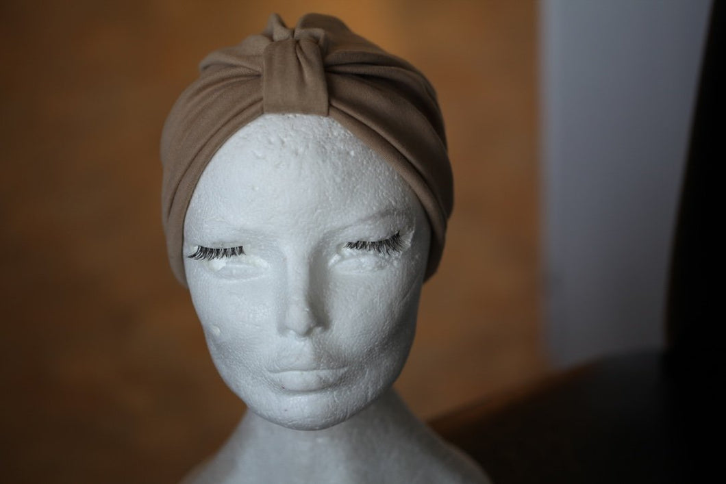 Beige Cotton turban
