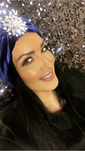 Load image into Gallery viewer, Sparkle Blue turban