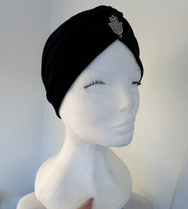 Fatimas hand Black Turban