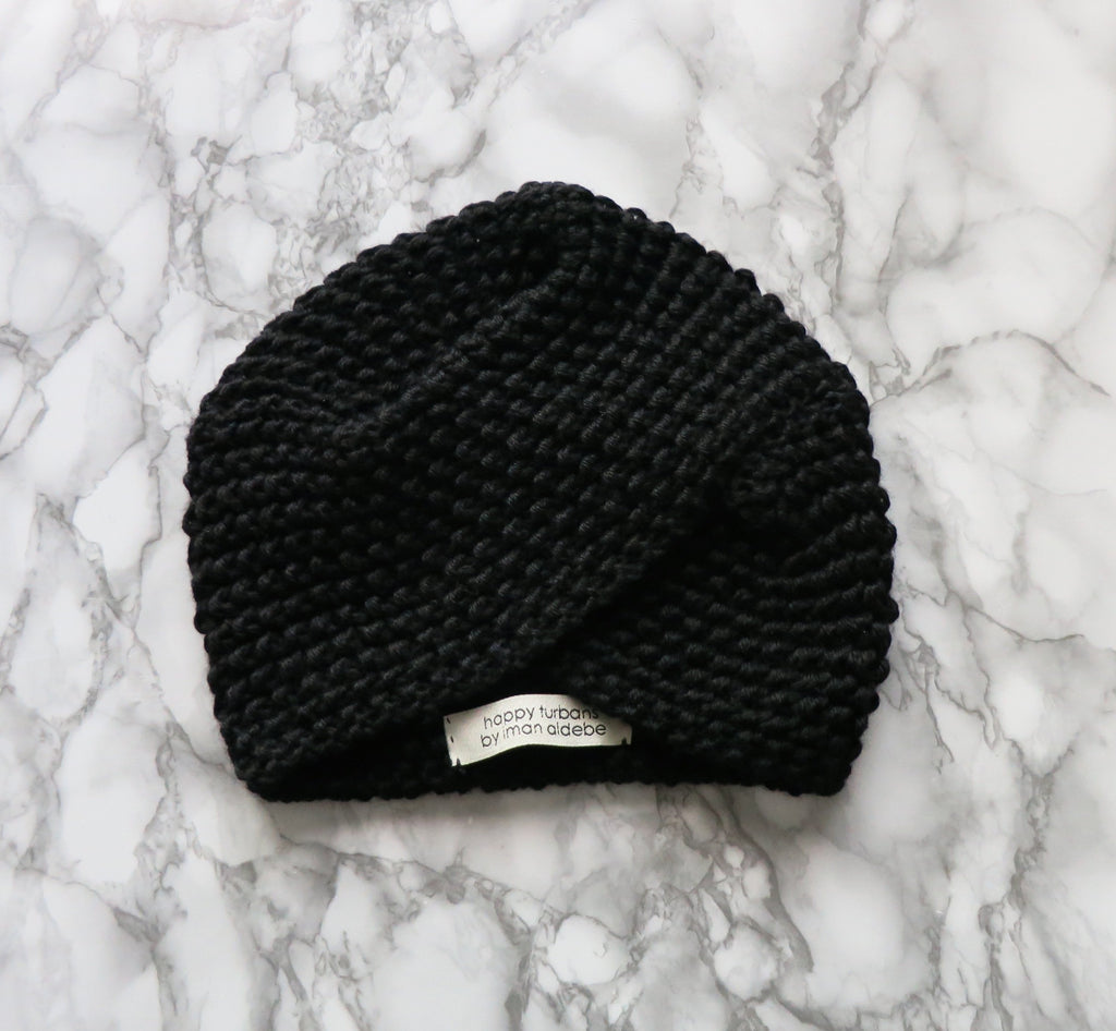 Black Winter Turban