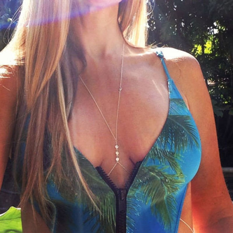 Golden Crystal Body Chain