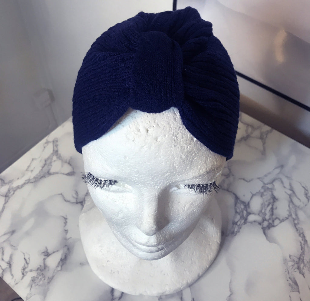Winter Blue Brave Turban