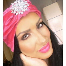 Load image into Gallery viewer, Sparkle Pink Velvet turban