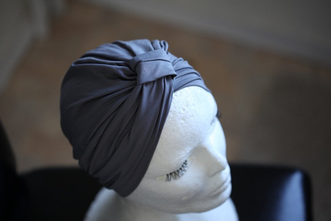 Grey Evening turban