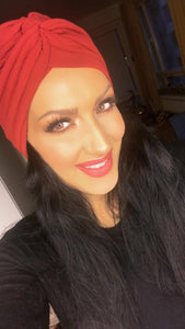 Chique Dark Red turban