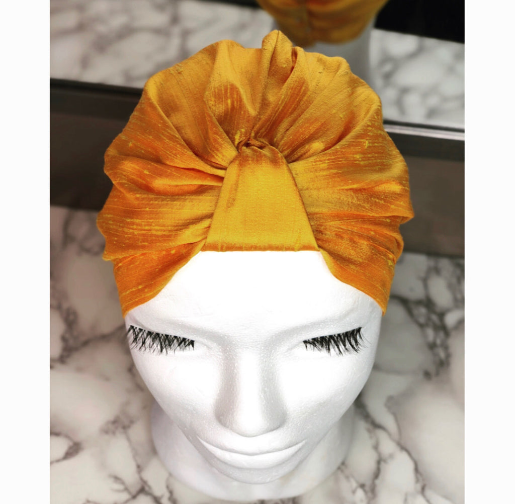 Sunset Silk Turban
