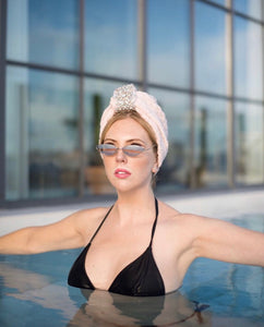 Dream haute Towel Turban with Diamonds