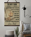 BA013 - To My Son - Good Time - Dad - Baseball Canvas With The Wood Frame