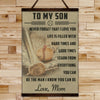 BA015 - To My Son - Good Time - Mom - Baseball Canvas With The Wood Frame