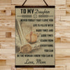 BA016 - To My Daughter - Good Time - Mom - Baseball Canvas With The Wood Frame