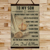 BA017 - To My Son - Good Time - Dad & Mom - Baseball Canvas With The Wood Frame