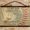 BA019 - To My Son - Good Time - Dad - Baseball Canvas With The Wood Frame