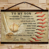 BA020 - To My Son - Good Time - Mom - Baseball Canvas With The Wood Frame