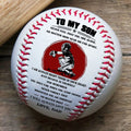 (BB62) - BAB057 - Dad To Son - I Will Always Love You - Baseball Ball