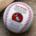 (BB64) BAB58 - Grandpa To Grandson - Your Way Back Home - Baseball Ball