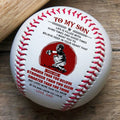 (BB73) - BAB066 - Dad To My Son - Braver Than You Believe  - Baseball Ball