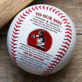 (BB76) - BAB069 - Mom To Our Son - You Way Bachk Home  - Baseball Ball