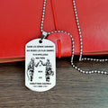 Engrave FFD003 - Call On Me Brother - French - Firefighter Dog Tag