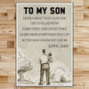 FM001 - To My Son - Never Forget That I Love You - Family Poster