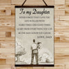 FM002 - To My Daughter - Never Forget That I Love You - Family Canvas With The Wood Frame