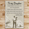 FM002 - To My Daughter - Never Forget That I Love You - Family Poster