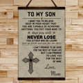 FM003 - Mom To Son - Never Lose - Family Canvas With The Wood Frame