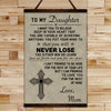 FM004 - Mom To Daughter - Never Lose - Family Canvas With The Wood Frame