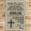 FM004 - Mom To Daughter - Never Lose - Family Poster